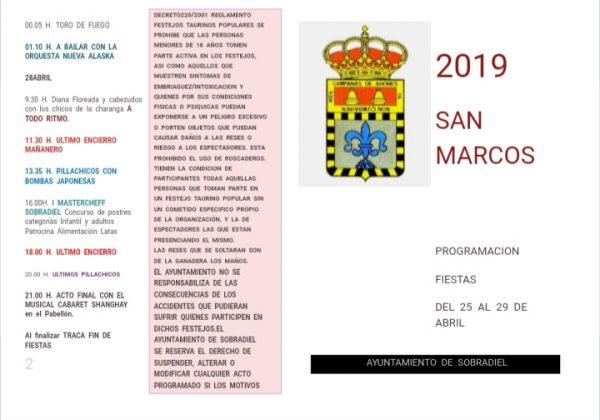 Fiestas de San Marcos 2019 – Programación