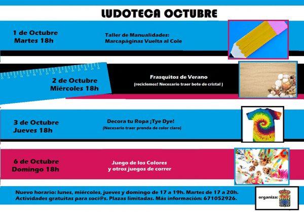 Ludoteca 1 al 6 de octubre