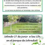 Homenaje a las víctimas del COVID-19